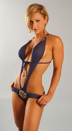 Flag Buckle Slingshot Sexy Swimsuit