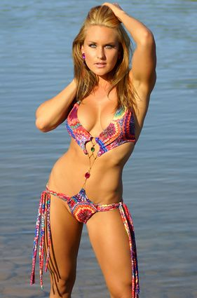 Gem Center Monokini Bathing Suit