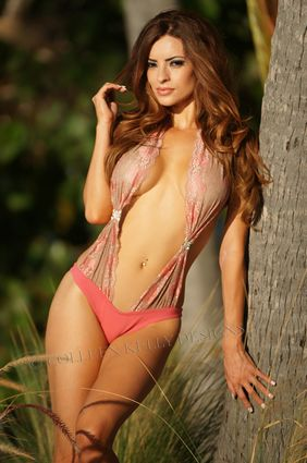 Lace Swag Monokini by Colleen Kelly