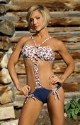 Lattice Bandeau One-Pc Bathing Suit
