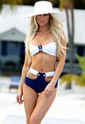 Nautical Bandeau Retro 2-piece