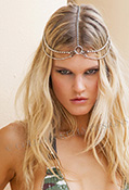 Silver Punk Head Piece Jewelry