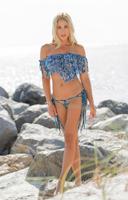 Short Lace Poncho Bikini 3-pc